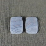 Blue Lace Agate PAIR Cabochons