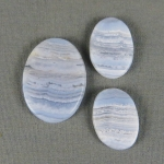 Blue Lace Agate SET Cabochons