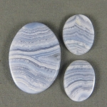 Blue Lace Agate SET Cabochons BLA55