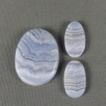 Blue Lace Agate SET Cabochons BLA56