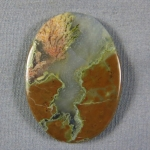 Priday Plume Agate Cabochon 222