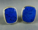 Lapis Sterling Cuff Links