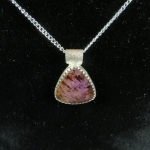 Cacoxenite in Amethyst Sterling Necklace