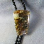 Graveyard Point Plume Agate Bolo Tie