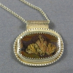 Priday Plume Agate Sterling Silver Necklace