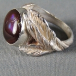 Fire Agate Sterling Silver Ring 5 1/2