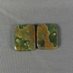 Rainforest Jasper Cabochon PAIR 30
