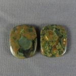 Rainforest Jasper Cabochon PAIR 31