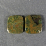 Rainforest Jasper Cabochon PAIR 34