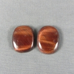 RED Tiger Eye Cabochon PAIR 91