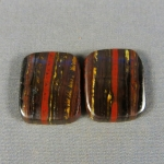 Tiger Iron Cabochon PAIR 162