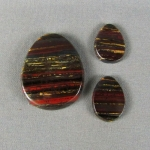 Tiger Iron 3 pc Cabochon SET