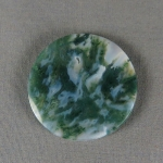 Green Moss Agate Cabochon