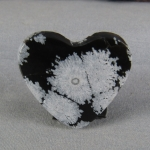 Snowflake Obsidian HEART Cabochon