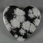 Snowflake Obsidian Cabochon HEART
