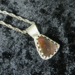 Boulder Opal Sterling Silver Necklace