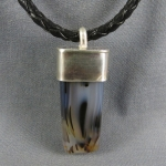 Montana Agate Sterling Rock Pendant