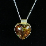 Fire Agate Sterling Silver Necklace