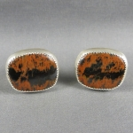 Tiger Tail Sterling Cuff Links