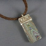 Fordite Sterling Rock Pendant