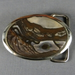 Blue Biggs Jasper Belt Buckle