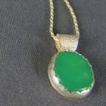 Chrysoprase Sterling Silver Necklace